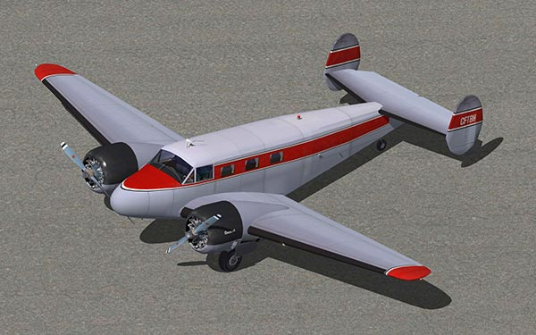 Beech18 Liveries_RED_GREY